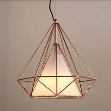 copper lighting pendants. copper diamond wire cage pendant light lighting pendants