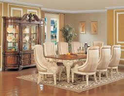 Dining Room Solid Wood Dining Room Ideas With White Rug Dining - Dining room two tone paint ideas