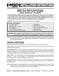 msd 8552 buick 400 430 455 v8 ready to run distributor Msd Ready To Run Wiring Diagram msd 8552 buick 400 430 455 v8 ready to run distributor installation user manual 8 pages also for 8524 buick nailhead ready to run distributor msd ready to run distributor wiring diagram