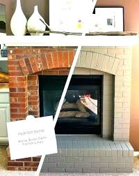 Painted Brick Fireplace White Ideas Paint Mantel Painting Can Color For Mantle Interior