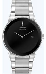 buy citizen watches shipping on citizen watches from watchco citizen eco drive mens axiom stainless steel case and bracelet black dial silver watch
