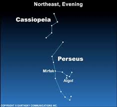Cassiopeia And Perseus In Northeast On Autumn Evenings