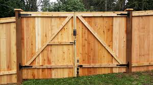 Double fence gate Privacy Fence 12ft Wide Double Swing Gate With Lockable Drop Pin back View Novinkiclub Our Work Cedar River Construction Make Your Fence Of Deck Happen