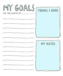 8 Free Goal Setting Worksheet Printables Tip Junkie