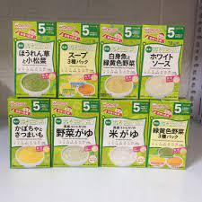 Bột ăn dặm Wakodo đủ vị Nhật Bản cho bé từ 5 tháng ( Date 12/2021-1/2022)