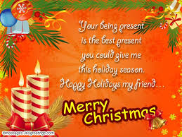 greetings merry christmas friends quote