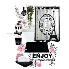 Paris Themed Decor Accessories Extraordinary Amusing Black And White Paris Themed Bathroom Pink Black And White