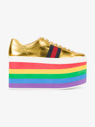 gucci shoes rainbow. gucci rainbow platform sneakers shoes p
