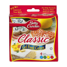 Betty Crocker Gel Food Color Blending Chart Betty Crocker Classic Gel Food Colors 4 Ct 2 7 Oz From