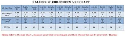 Inc Shoes Size Chart Kaleido Kids 7 Colors Led Light Up Shoes Sneakers For Boys
