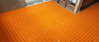 electric radiant floor heat installed