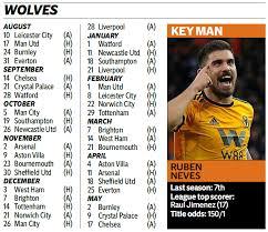 Premier League Wall Chart Premier League Fixtures 2019 20 Wallchart Download Our