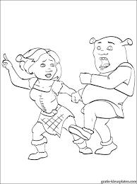 Kleurplaat Van Fiona En Shrek Dansen Gratis Kleurplaten