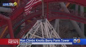 Man Climbs Atop Supreme Scream Ride At ...
