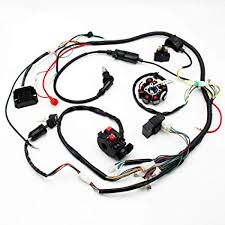 amazon com buggy wiring harness loom gy6 engine 125cc 150cc quad buggy wiring harness loom gy6 engine 125cc 150cc quad atv electric start stator 8 coil spark