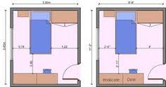 Typical Bedroom Layouts With Their Measurements. The Room Is For One  Occupant.