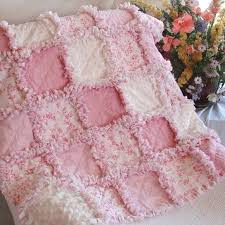 Best 25+ Biscuit quilt ideas on Pinterest | Bubble quilt, Puffy ... & Baby Rag Quilt Toile Floral - OMG I have to have this too! Adamdwight.com
