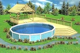 O Pool And Deck Ideas Above Ground Design Semi Wooden