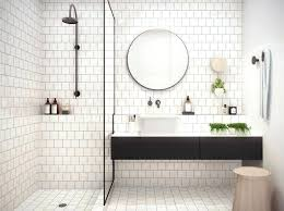 white tile flooring. Fascinating White Tile Bathroom Ideas Small Subway Flooring