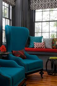 red and teal living room ideas