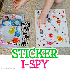 indoor activities for kids. STICKER I-SPY: A Simple DIY I-Spy Activity That Toddlers Can Make Indoor Activities For Kids