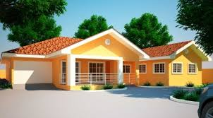 Small Picture Fascinating 4 Bedroom Bungalow House Plans In Ghana Bedroombiji