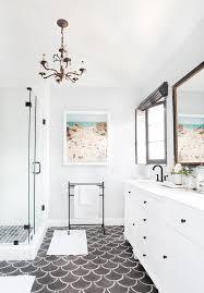 modern white bathroom ideas. Fish Scale Tiles In White Bathroom Modern Ideas B