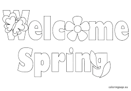 Spring Coloring Pages For Preschoolers Printable Spring Coloring