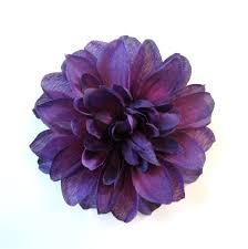 Dark Purple Dahlia - Eggplant Fabric Flower Hair Clip or Flower