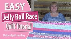 Jelly Roll Race Quilt Top Tutorial: Quilting for Beginners - YouTube &  Adamdwight.com