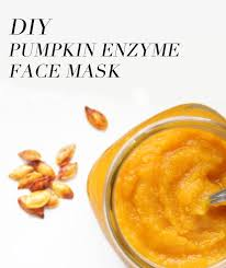 pumpkin enzyme face mask diy with text