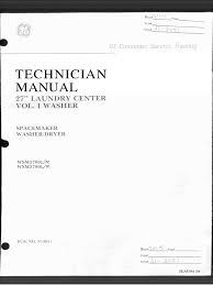 Ge Service Technician 31 2051 Ge Spacemaker Laundry Center Washer Dryer Service Manual