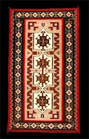 a navajo rug from teec nos pos trading post