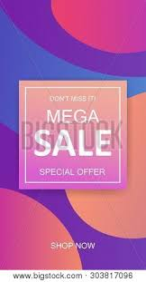 Mega Sale Flyer Vector Photo Free Trial Bigstock