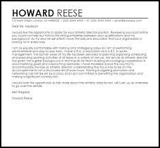 athletic director cover letter sample athletic cover letter