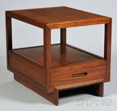 two tiered side tables frank wright mahogany two tier side table with drawer tiered side table