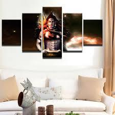 modern frames for paintings canvas painting mahesvara cuadros 5 panel india shiva home decoration art