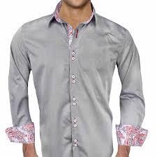 Mens Designer Grey Shirt Mens Designer Dress Shirt Vendetta