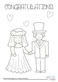 Wedding Colouring Pages