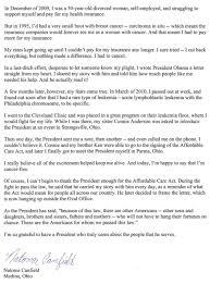 letters to president obama first entry