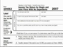 how to fill out a form how to complete a 1040ez tax form how to fill out a 1040ez tax