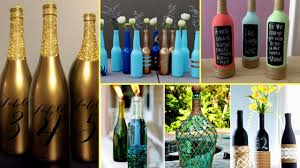 30 + Beautiful Wine Bottle Decorating Ideas  DIY Recycled Room Decor