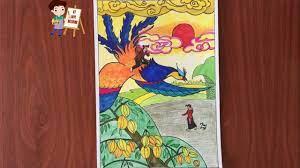 Vẽ sự tích Cây khế - Vẽ truyện cổ tích Cây Khế - Cách vẽ tranh minh họa truyện  cổ tích cây khế - YouTube