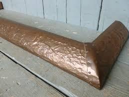 image 3 antique art nouveau copper fireplace fender