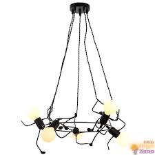 <b>Hiper People H143</b>-5 - <b>светильник</b> в стиле лофт черного цвета в ...