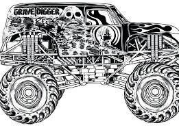 Monster Truck Coloring Pages Grave Digger Monster Truck Coloring