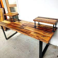 custom wood office furniture. Custom Wood Pieces Interior Design Rustic Style Computer Desk Purple Compact Cabin Furniture Office