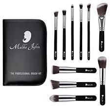 designer beauty makeup brush set malika jafrin 10 piece professional kabuki brushes for face and