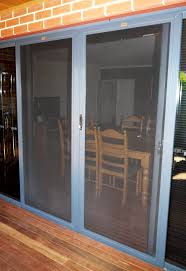 double sliding doors in viewclear stainless steel security mesh