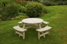 devon 8 seater round picnic table